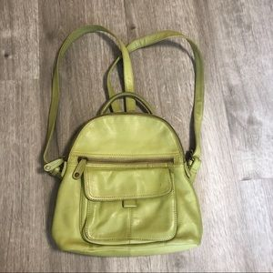 Fossil Leather Small Backpack in Green
